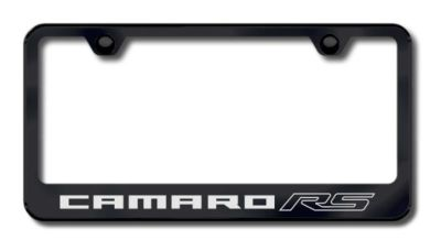Sell GM Camaro RS Laser Etched License Plate Frame-Black Made in USA Genuine motorcycle in San Tan Valley, Arizona, US, for US $34.49