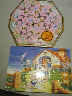 NEW and EUC Puzzles, pigs is wooden