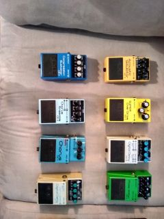 GREAT deal on GREAT guitar effects pedals amd pedal board!!!