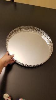 Really cute mirrored silver tray