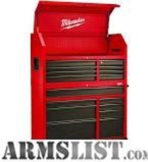 For Sale: MILWAUKEE TOOL CHEST AND ROLLING CABINET (NEW)