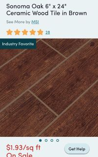 New Wood look tile, only $.80 per sq ft! (6x24 )