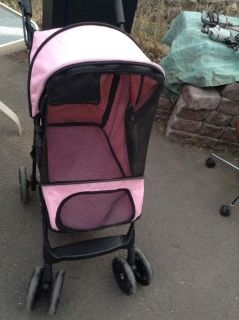 Pink Small Dog Stroller