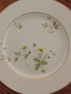 Set of yellow and green floral china
