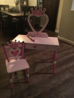 Girls Princess Vanity Table/Desk