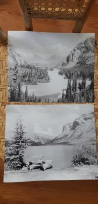 2 Mountain/Lake Photographs 8x10""