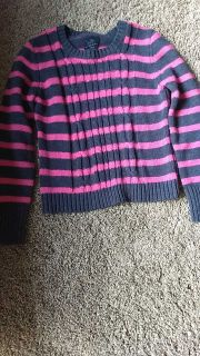 girls faded glory sweater size 10/12