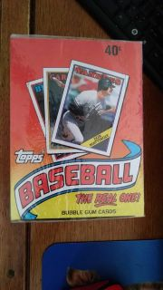 Unopened Topps cards