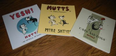 3 Patrick McDonnell MUTTS Book Lot YESH II III More Shtuff Comic Cartoon Books