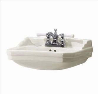 NEW Foremost Pedestal Sink Basin in Biscuit