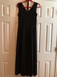 Brand New Black Gorgeous Long Formal Gown- Dress. Perfect For Any Formal and Great For A Cruise. Has A Belt If Wanted. Size 6