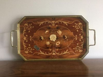 Inlaid Wood Serving Trays from Italy