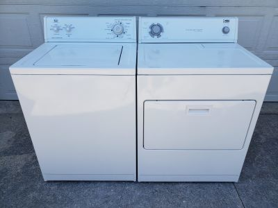 Whirlpool washer and electric dryer works perfectly