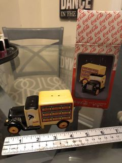 ENESCO Coca Cola Delivery Truck Salt and Pepper Shakers #270091