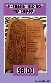 Isiah 61 Carved Plaque