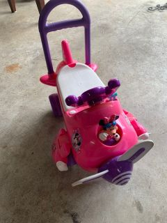 Minnie Mouse Airplane Ride On Toy