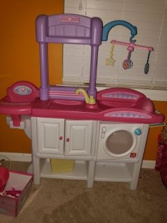 Play doll changing table