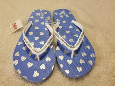 NWT Justice brand periwinkle blue/white color