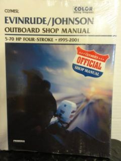 Buy CLYMER OUTBOARD SHOP MANUAL FOR EVINRUDE/JOHNSON 5-70 HP 4-STROKE 95'-01' ~ B753 motorcycle in Hollywood, Florida, United States, for US $27.99