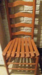 High backed Wood Chair