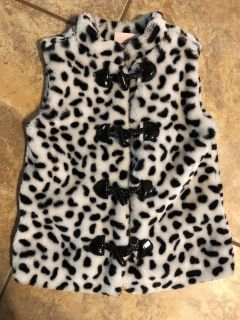 Little Lass Like New Soft Black And White Jacket Vest. Size 4T