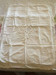 Pair of white embroidered standard/queen pillow shsms