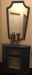 Entry or accent table with mirror