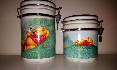 Disney Winnie the Pooh set of 2 Cannisters *LAST CHANCE
