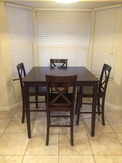 New solid wood dining table and chairs