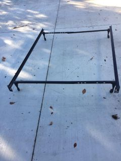 Twin size frame and box spring.