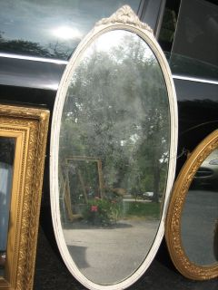 Large oval vintage shabby chic mirror