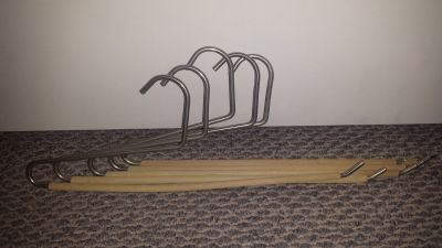 Set of 5 Sturdy Pants Hangers