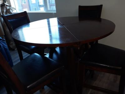 Alpine Counter Height Extendable Dining Table / Counter Height Dining set