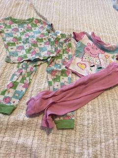 Peppa Pig toddler girls size 3t pjs , ppu only