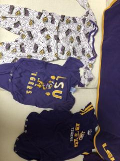 LSU baby clothes and pregnancy tee