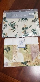 New floral table runners