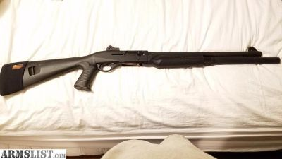 For Sale: Benelli M2 light new only 20 rounds through it shotgun it has ghost ring and back rifle sighting in the front this is a tactical Beast with extended to for 8 rounds of shells.