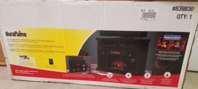 Duraflame Tv Stand W/ Electric Fireplace