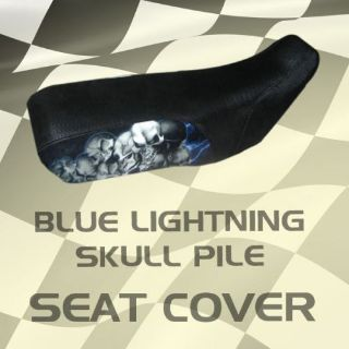 Find Suzuki 4WD King Quad 300 88-94 Blue Lightning Skull Pile Seat Cover #wow17972 motorcycle in Milwaukee, Wisconsin, United States, for US $39.99