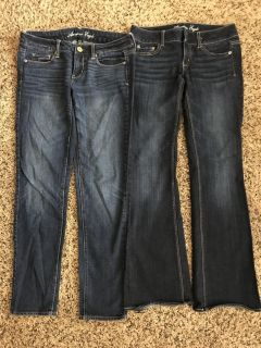 American Eagle Women s Stretch Jeans Lot Size 4 - Excellent Cond.- L Skinny, R Artist - 83rd k7, XP