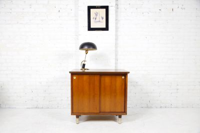 Vintage small cabinet with sliding doors by JofCo