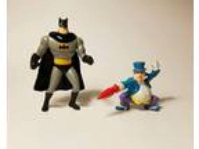 1989 Applause DC Comics Penguin & Batman Figures Lot of 2