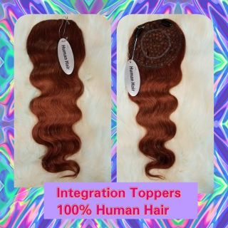 "Integration Topper Length 20""/ Body Wave Color #33/ Size 5""x6"""