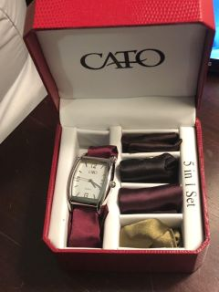 NIB 5 in 1 watch set - 1 watch face and 5 different band options