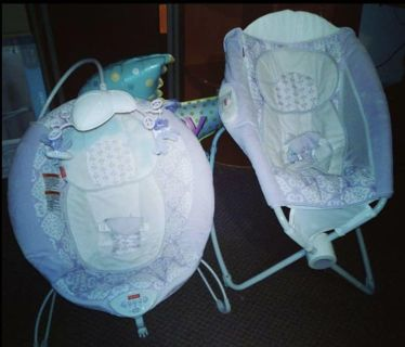 Bouncie seat have 2 20.00 each like new