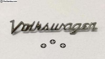 Volkswagen hood script