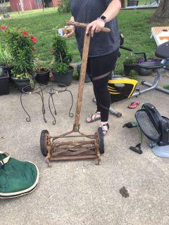 Antique mower.