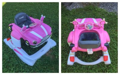 Pink Car Walker, clean, perfect condition, works great **READ PICK-UP DETAILS BELOW