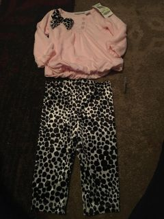 First impressions 3-6m nwt pink top & print pants - ppu (near old chemstrand & 29) or PU @ the Marcus Pointe Thrift Store (on W st)