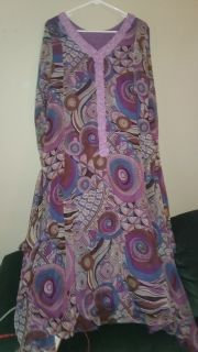 NWT Purple Paisley Maxi Dress Size XL